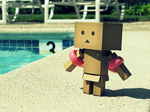 Danbo with armbands